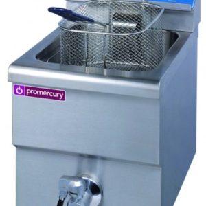 Freidora eléctrica simple sobremesa en acero inoxidable.Maquinaria de hostelería