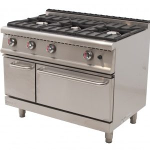 Cocina a gas 6 fuegos horno maxi serie 700 promercury for Cocina 6 fuegos industrial