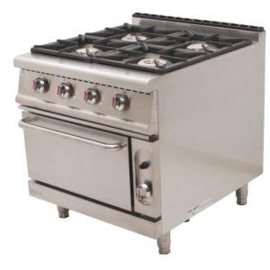 Cocina + horno a gas serie 900