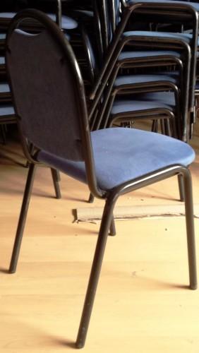 Silla comedor tapizada en azul segunda mano maquinaria - Mobiliario hosteleria segunda mano sevilla ...