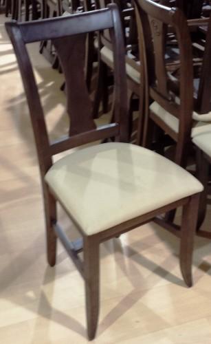 silla de madera tapizado crema segunda mano maquinaria
