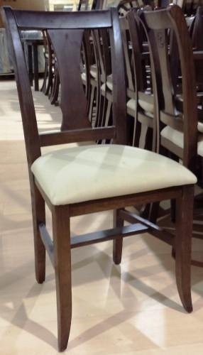 Silla de madera tapizado crema segunda mano maquinaria for Tapizado de sillas