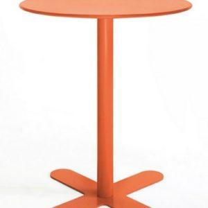 Mesa modelo ANTIBES en color naranja. Maquinaria y mobiliario de hostelería