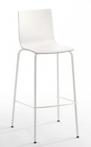 Taburete modelo AVA en color blanco. Maquinaria y mobiliario de hostelería