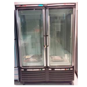 Armario refrigeración para hostelería dos temperaturas cristal curvo