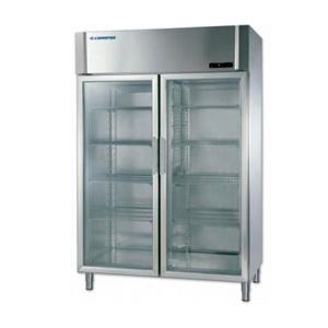 Armario refrigerado expositor dos puertas de cristal para hostelería