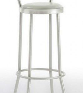 Taburete modelo DIDO 2 en color blanco. Maquinaria y mobiliario de hostelería
