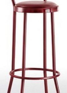 Taburete modelo DIDO 2 en color burdeos. Maquinaria y mobiliario de hostelería