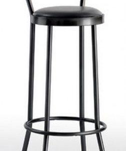 Taburete modelo DIDO 2 en color negro. Maquinaria y mobiliario de hostelería