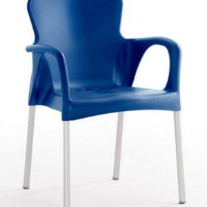 Silla modelo GRACE en color azul. Maquinaria y mobiliario de hostelería