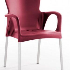 Silla modelo GRACE en color burdeos. Maquinaria y mobiliario de hostelería
