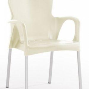 Silla modelo GRACE en color marfil. Maquinaria y mobiliario de hostelería