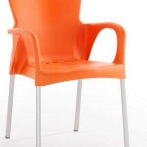 Silla modelo GRACE en color naranja. Maquinaria y mobiliario de hostelería