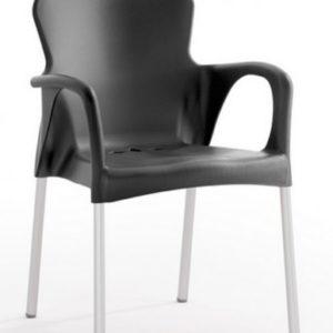 Silla modelo GRACE en color negro. Maquinaria y mobiliario de hostelería