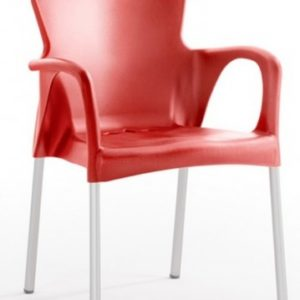 Silla modelo GRACE en color rojo. Maquinaria y mobiliario de hostelería