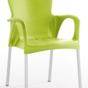Silla modelo GRACE en color verde. Maquinaria y mobiliario de hostelería