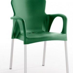 Silla modelo GRACE en color verde oscuro. Maquinaria y mobiliario de hostelería