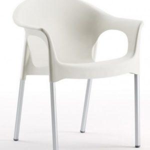 Silla modelo PIA en color blanco. Maquinaria y mobiliario de hostelería