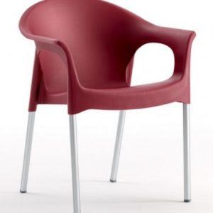 Silla modelo PIA en color burdeos. Maquinaria y mobiliario de hostelería
