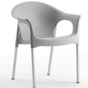 Silla modelo PIA en color gris oscuro. Maquinaria y mobiliario de hostelería
