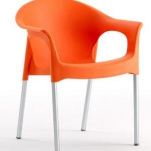 Silla modelo PIA en color naranja. Maquinaria y mobiliario de hostelería