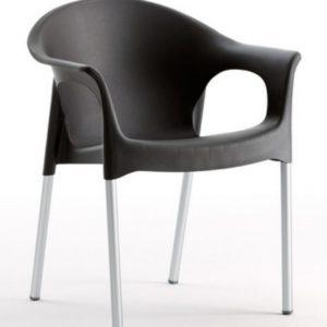 Silla modelo PIA en color negro. Maquinaria y mobiliario de hostelería