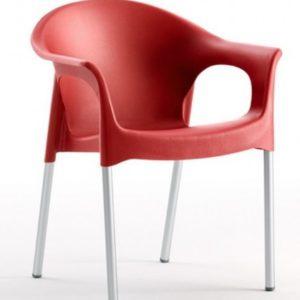 Silla modelo PIA en color rojo. Maquinaria y mobiliario de hostelería
