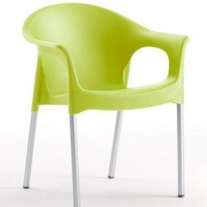 Silla modelo PIA en color verde. Maquinaria y mobiliario de hostelería