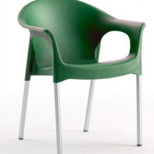 Silla modelo PIA en color verde oscuro. Maquinaria y mobiliario de hostelería