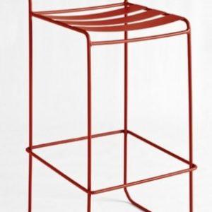 Taburete modelo PORTOFINO en color rojo. Maquinaria y mobiliario de hostelería