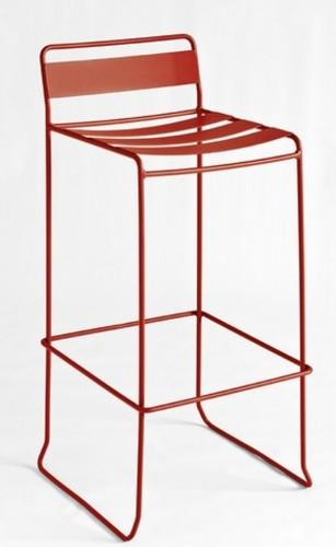 Taburete modelo PORTOFINO en color naranja. Maquinaria y mobiliario de hostelería