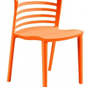 Silla de hostelería modelo LOU en naranja. Maquinaria y mobiliario de hostelería