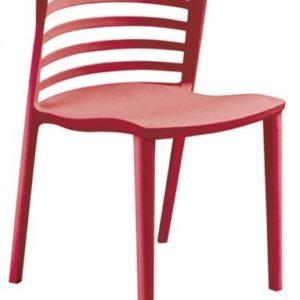 Silla de hostelería modelo LOU en rojo. Maquinaria y mobiliario de hostelería