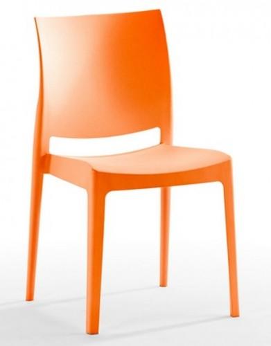 Silla modelo noa maquinaria hosteler a for Sillas naranjas baratas