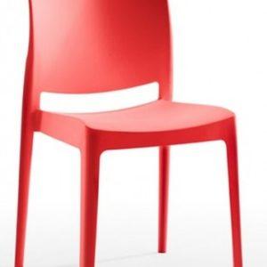 Silla modelo Noa en color rojo. Maquinaria y mobiliario de hostelería
