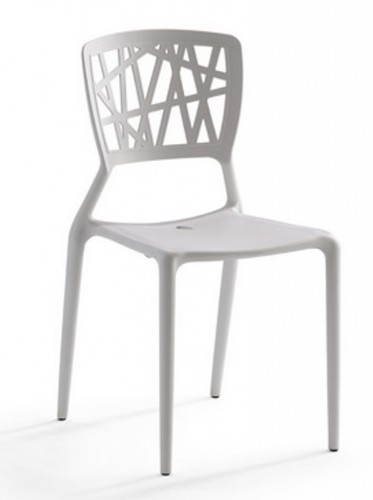 Silla modelo YOKO en color blanco. Maquinaria y mobiliario de hostelería