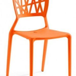 Silla modelo YOKO en color naranja. Maquinaria y mobiliario de hostelería