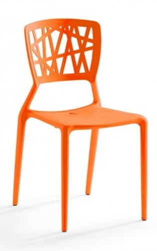 Silla modelo yoko maquinaria hosteler a for Sillas naranjas baratas