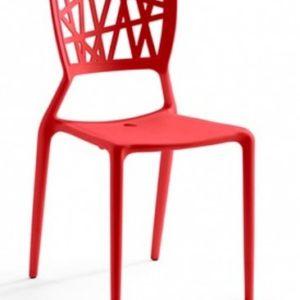 Silla modelo YOKO en color rojo. Maquinaria y mobiliario de hostelería