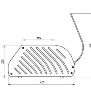 Vitrina para tapas con capacidad para 8 bandejas, grupo remoto. Maquinaria y mobiliario de hostelería