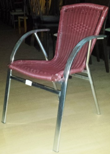 Silla aluminio asiento color burdeos segunda mano - Mobiliario hosteleria segunda mano sevilla ...
