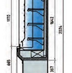 Vitrina Mural M5. Maquinaría y mobiliario para hostelería.