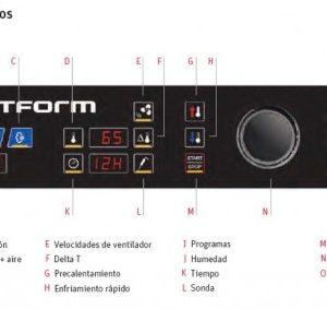 Panel de control para Horno Mixto compacto distform modelo mychef. Maquinaria y mobiliario de hostelería