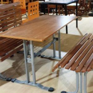 Mesa madera nogal de segunda mano