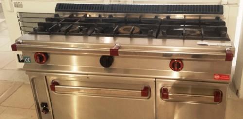 Cocina a gas 3 fuegos horno repagas segunda mano maquinaria hosteler a - Cocina gas 3 fuegos ...