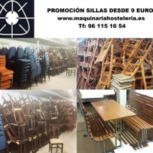 Promoción sillas desde 9 euros. Maquinaria y mobiliario de hosteleria
