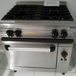 Cocina a gas 4 fuegos horno segunda mano eurast for Cocina restaurante segunda mano