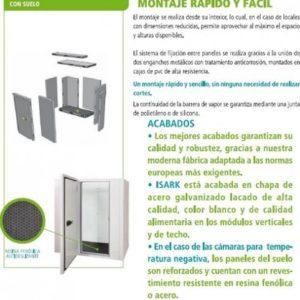 Camara frigorifica de temperatura positiva disponible en diferentes dimensiones con suelo