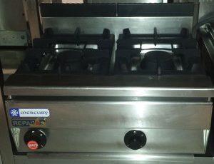 Cocina a gas 2 fuegos sobremesa repagas serie 750 for Cocina restaurante segunda mano