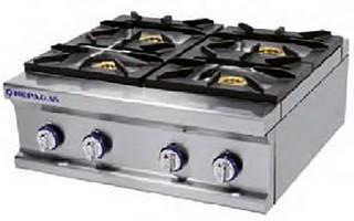 Cocina gas 4 fuegos repagas sobreme maquinaria hosteler a for Cocina 6 fuegos repagas